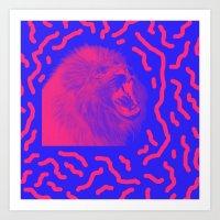 Lion Time Art Print