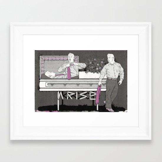 Jesus Raises Lazarus (by Jeremy Stout) Framed Art Print
