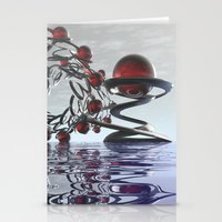 Surreal Christmas in the sky  Stationery Cards