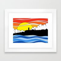 Penzance Skyline Framed Art Print