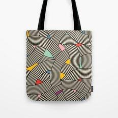 Modern Scandinavian Multi Colour Color Curve Graphic Tote Bag