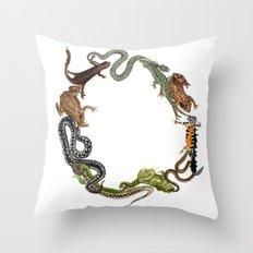 Reptile Wreath Throw Pillow