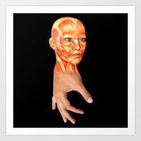 HAND FACE SKIN Art Print