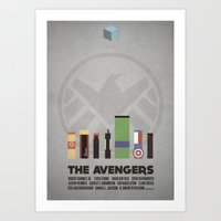 The Avengers - Minimal P… Art Print