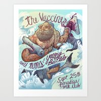 The Vaccines (band poster) Art Print