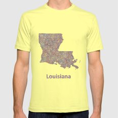 Louisiana Mens Fitted Tee Lemon SMALL