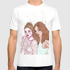 Gigi Hadid & Jourdan Dunn Maybelline NY   Mens Fitted Tee White SMALL