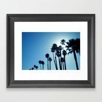 Santa Cruz - Blue  Framed Art Print