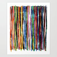 fancy stripes 1 Art Print