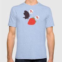 the death loves the strawberry Mens Fitted Tee Tri-Blue SMALL