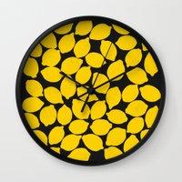 lemons 1 Wall Clock