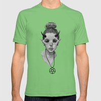 Monster Girl #3a Mens Fitted Tee Grass SMALL