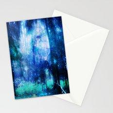 Blue night #Wood Stationery Cards
