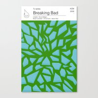 Breaking Bad TV books Canvas Print