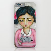 iPhone & iPod Case featuring Frida Kahlo and bunny by Atelier Susana Tavares