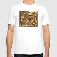 Farmer Farming Plowing W… Mens Fitted Tee White SMALL