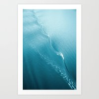Ripple In Time (aqua) Art Print
