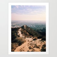 Runyon Canyon And Hollyw… Art Print