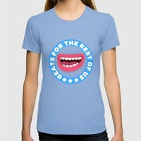 Beatbox For The Rest Of … Womens Fitted Tee Tri-Blue SMALL