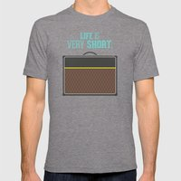 Life is short Mens Fitted Tee Tri-Grey SMALL
