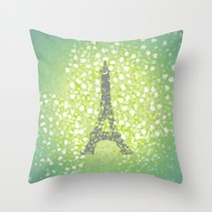 Paris in Spring Throw Pillow