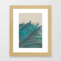 Turquoise Feather Abstra… Framed Art Print