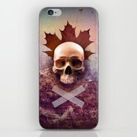 Skull And Leaf iPhone & iPod Skin
