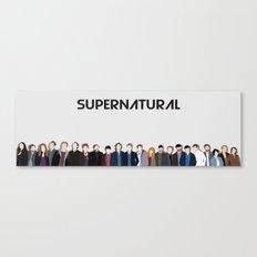 Supernatural Cast Canvas Print
