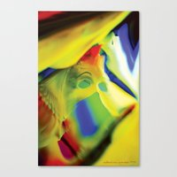 Manifestation In Yellow Canvas Print