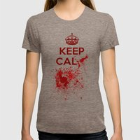 Keep calm? Womens Fitted Tee Tri-Coffee SMALL
