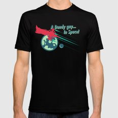 A Dandy guy... In Space! Black Mens Fitted Tee SMALL