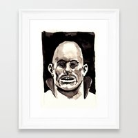 Driver Mask Framed Art Print