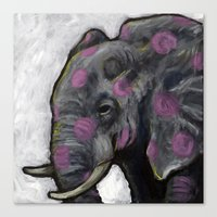 Spotted Elephant Canvas Print