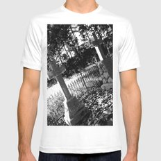 A Dark Vision SMALL White Mens Fitted Tee