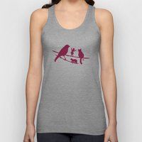Girl tells a story to her friends Unisex Tank Top