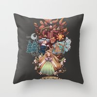 The Four Season Throw Pillow