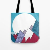 Blue Sky Mountains Tote Bag