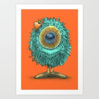Mr Eye Art Print