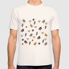 Cute Pattern 2 Mens Fitted Tee Natural SMALL