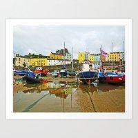 Tenby Harbour Reflection… Art Print