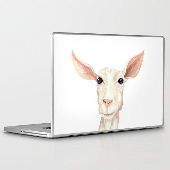 Watercolor Billy Goat Laptop & iPad Skin