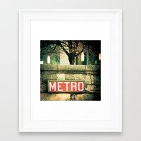 METRO SIGN, PLACE DE LA CONCORDE Framed Art Print