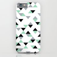 Triangles Mint Grey iPhone 6 Slim Case