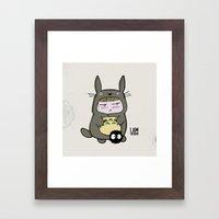 I am Totoro Framed Art Print