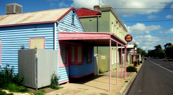 Colourful abandoned shop in rural Town ~ Australia Art Print