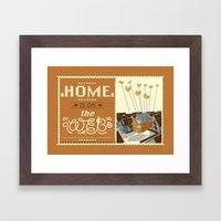 Home On The Web Framed Art Print