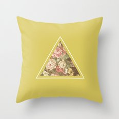 Floribus Trianguli Throw Pillow