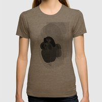 Unfortunate Birdies. Womens Fitted Tee Tri-Coffee SMALL