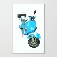 Viva La Vespa! Canvas Print