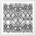 Monochrome Tribe Art Print